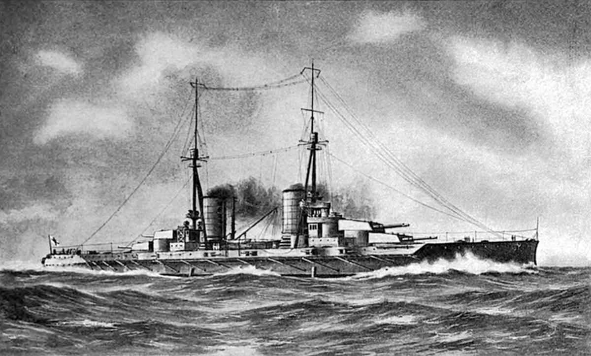 Px Greek Battleship Salamis Illustration