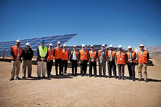 Enel Green Power - ESO and Enel Green Power officials at the entry into service of the La Silla solar photovoltaic plant in northern Chile.