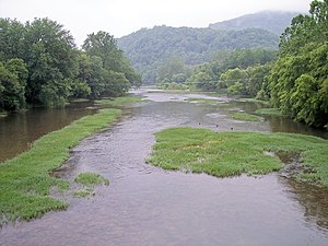 Marlinton, West Virginia - Image: Greenbrier River Marlinton