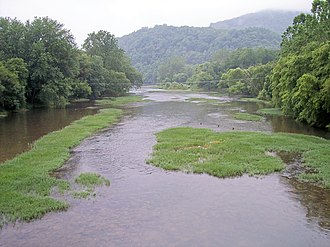 Greenbrier River - Greenbrier River at Marlinton, West Virginia