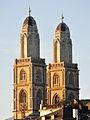 Grossmünster - Karls-Glockenturm - Quaibrücke 2010-09-21 18-52-12.JPG