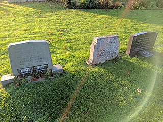 Group Of 3 Headstones Adjoining South Side Of Tower At Church Of St Peter And St Paul