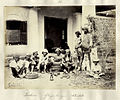 Group of snake charmers with musical instruments in India in the 1860s.JPG