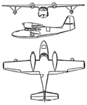 Grumman Widgeon 3-view Les Ailes February 1, 1947.png