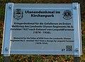 GuentherZ 2012-12-01 0273 Stockerau Kirchenpark Ulanendenkmal QR-Tafel.jpg