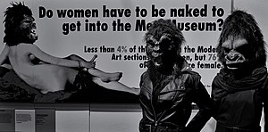 Guerrilla Girls - Image: Guerrilla Girls V&A Museum, London