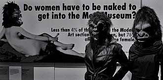 Guerrilla Girls - Image: Guerrilla Girls V&A Museum, London