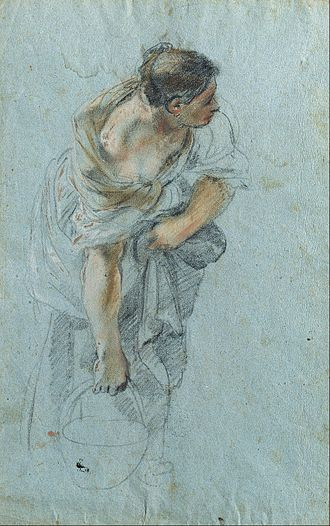 Guillaume Courtois - Study for a female figure
