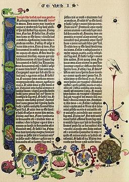Gutenberg Bible B42 Genesis