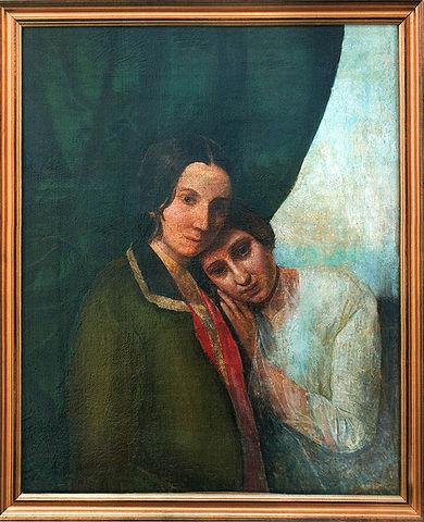 «Две Елены (Елена Ган и Елена Блаватская)». 1844—1845. По одной из версий, картина была написана Е. П. Блаватской. Музейный центр Е. П. Блаватской и её семьи.