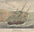 H.M.S. Barham Entering the Harbour of Milo 26 Febry 1832 RMG PY0776.jpg