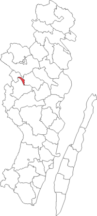 Hultsfreds købstad i Kalmar amt