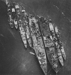 Japanese repair ship Akashi - Akashi in February 1943 at Chuuk