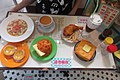 HK 旺角 Mongkok 始創中心 Pioneer Centre exhibition Oct 2017 IX1 fast food restaurant style table warning don't touch.jpg