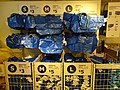 HK CWB Park Lane basement shop IKEA 3 size Carrier bags blue Dec-2015 DSC.JPG
