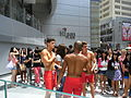 HK Causeway Bay Kai Chiu Road 3 male model outdoor photography Haysan Place topless Orange shorts Aug-2012.JPG