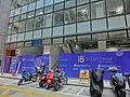 HK Central 中環 安蘭街 18 On Lan Street Dec-2013 Sunday morning construction site n motorbike carpark.JPG