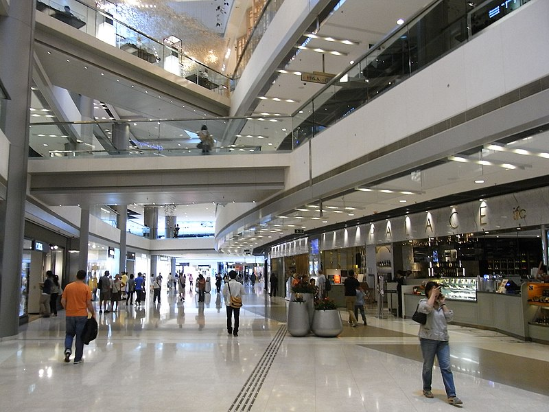 File:HK Central IFC Mall interior visitors May-2012.JPG