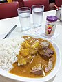 HK SW 上環 Sheung Wan 皇后大道中 367-375 Queen's Road Central shop 蟠龍粉麵茶餐廳 Pan Dragon Restaurant dinner Curry rice beef belly potato August 2019 SSG 04.jpg