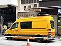 HK SW 上環 Sheung Wan 皇后大道中 Queen's Road Central 機電工程署 EMSD orange van fleet April 2020 SS2 01.jpg