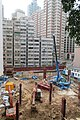 HK Shek Tong Tsui 加倫臺 Clarence Terrace view 石塘咀 翰林軒 Novum West Queen's Road West construction site May 2017 04.jpg