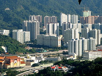 Tai Wai - Housing estates in Tai Wai, including King Tin Court, Sun Chui Estate and Man Lai Court. The Hong Kong Heritage Museum is visible at the bottom left.