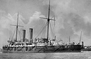 Cape of Good Hope Station - The cruiser HMS ''Gibraltar'', flagship of the Cape of Good Hope Station in the early 1900s