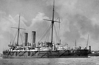 Commander-in-Chief, Africa (Royal Navy) - The cruiser HMS Gibraltar, flagship of the Cape of Good Hope Station in the early 1900s