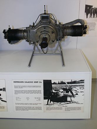 Haacke HFM-2 - HFM-2a on display at the Finnish Airforce Museum