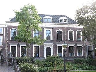 Hogere Burger School (Haarlem) - Original location in the Jacobijnestraat in 1864