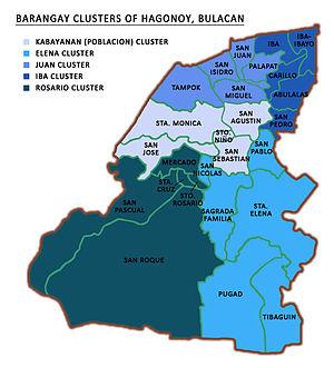 Hagonoy, Bulacan - Barangay clusters of Hagonoy