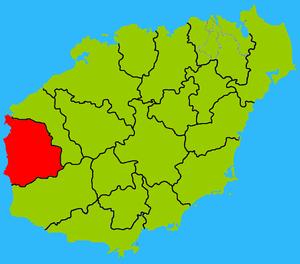 Dongfang, Hainan - Image: Hainan subdivisions Dongfang, Hainan