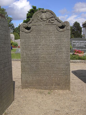 Hark Olufs - Hark Olufs' tombstone in the cemetery of Nebel