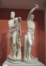 Harmodius and Aristogeiton group, casting in Pushkin museum 02 by shakko.jpg