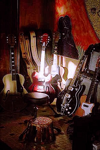 Harmony Company - A collection of Harmony guitars: SS Stewart gold acoustic, H73 Roy Smeck, H37 Hollywood, Silvertone 1446, H44 Stratotone