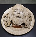 Head of St. John the Baptist on a Platter, Rhineland, c. 1480-1520, limestone with traces of polychromy - Museum Schnütgen - Cologne, Germany - DSC00127.jpg