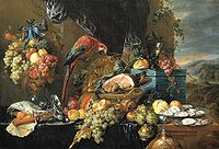 Heem, Jan Davidsz. de - A Richly Laid Table with Parrots - c. 1650.jpg