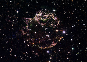 Cassiopeia A -  Cassiopeia A observed by the Hubble Space Telescope