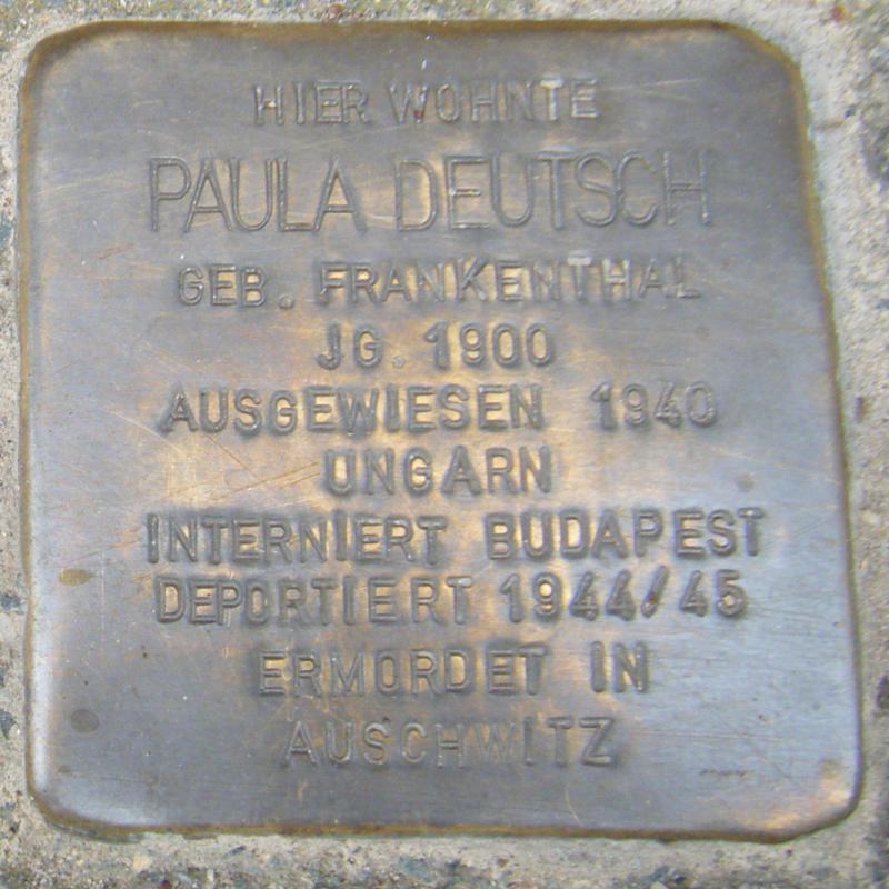 Heidelberg Paula Deutsch geb. Frankenthal.png