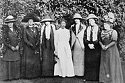 Helen Crawfurd, Janet Barrowman, Margaret McPhun, Mrs A.A. Wilson, Frances McPhun, Nancy A. John and Annie Swan