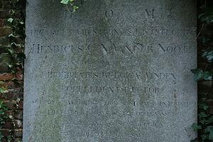 Hendrik Van der Noot - Gravestone of Hendrik van der Noot