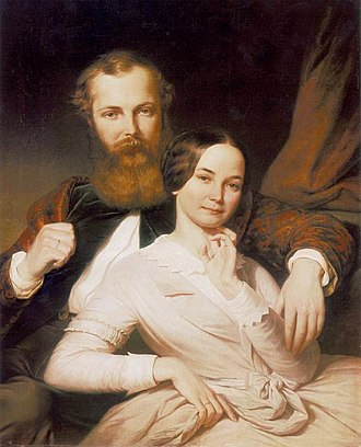 Henrik Weber - Composer Mihály Mosonyi and His Wife (1840s)