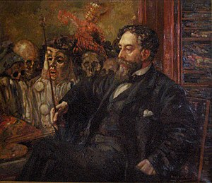 James Ensor - Portrait of James Ensor by Henry De Groux, 1907