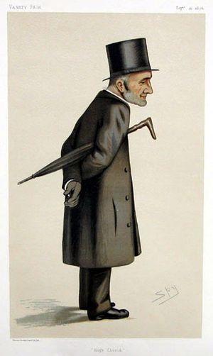"""Henry Liddon - An 1876 caricature of Liddon from Vanity Fair, titled """"High Church"""""""