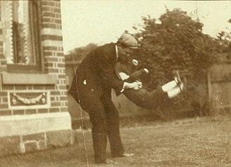 Herbert Hoover Jr. - Hoover playing with his father in 1905