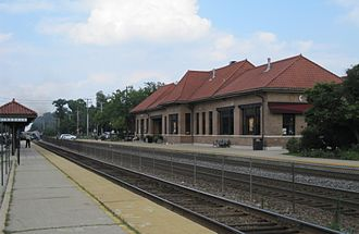 Hinsdale, Illinois - The Hinsdale train station on the BNSF Railway Line
