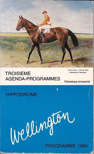 Hippodrome Wellington - Prince Rose (Hervé Denaigre),  painted by Bob Demuyser (1920-2003)