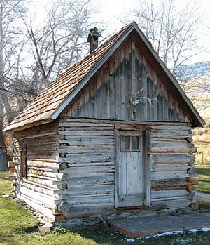 James Cant Ranch Historic District - Log cabin built by Floyd Officer in the 1890s