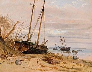 Fra stormfloden 1872. Falster