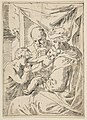 Holy Family with Saint John the Baptist kissing the infant Christ's hand, copy in reverse after Cantarini MET DP815112.jpg